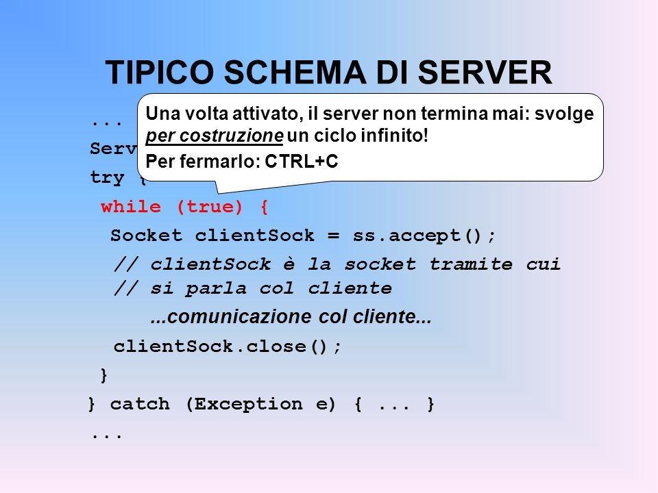 TIPICO SCHEMA DI SERVER