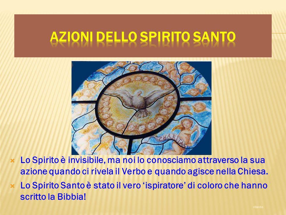 Azioni dello Spirito Santo