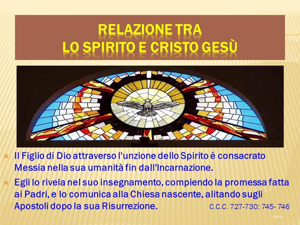 Relazione tra lo Spirito e Cristo Gesù