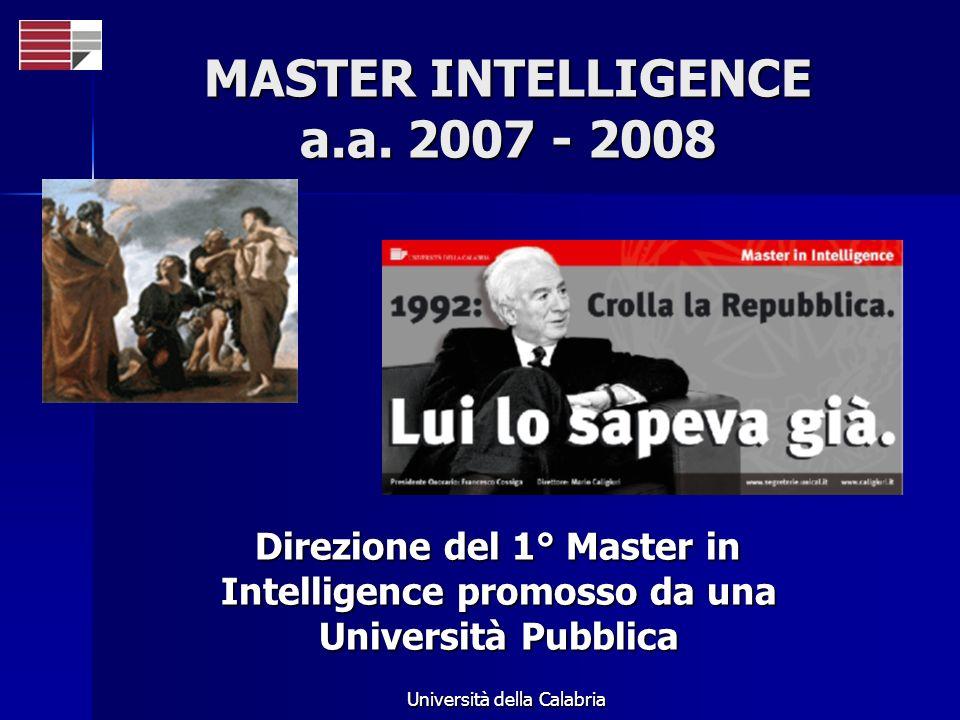 MASTER INTELLIGENCE a.a. 2007 - 2008