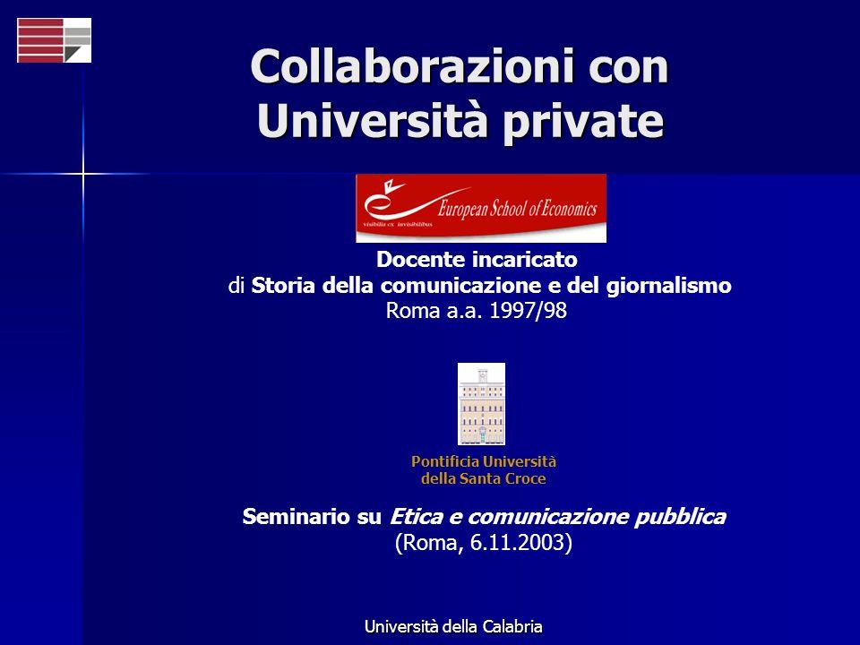 Collaborazioni con Università private