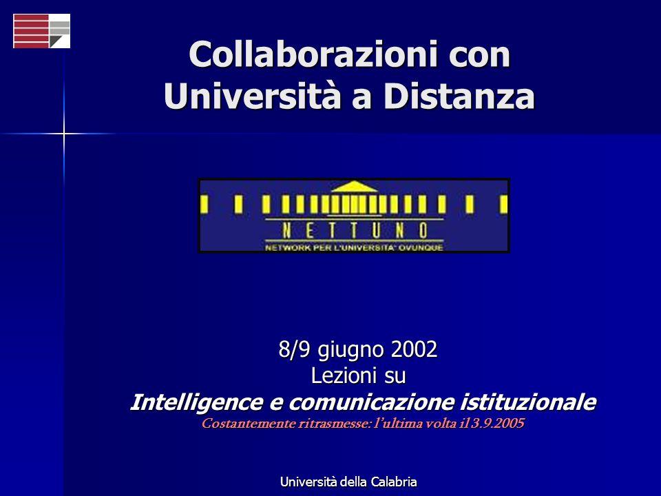 Collaborazioni con Università a Distanza