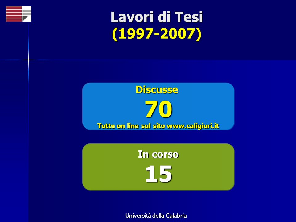 Tutte on line sul sito www.caligiuri.it