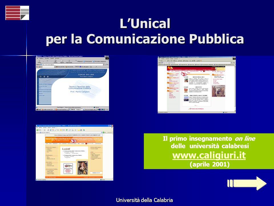 L'Unical per la Comunicazione Pubblica
