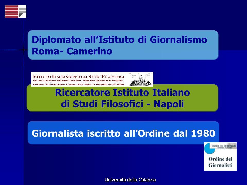 Diplomato all'Istituto di Giornalismo Roma- Camerino