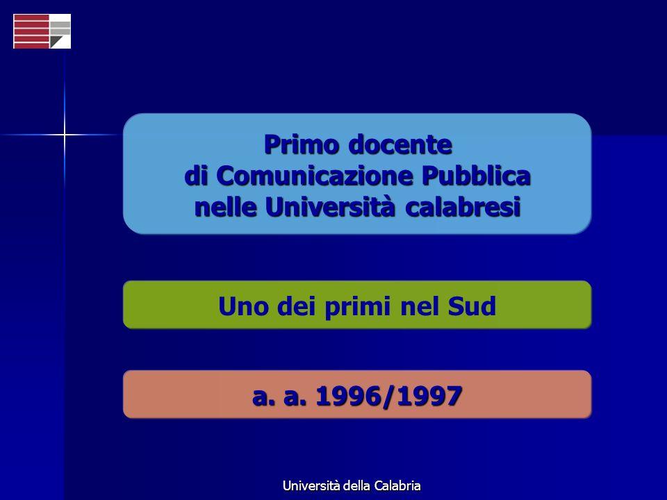 di Comunicazione Pubblica nelle Università calabresi