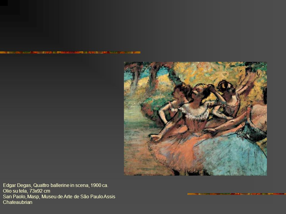 Edgar Degas, Quattro ballerine in scena, 1900 ca