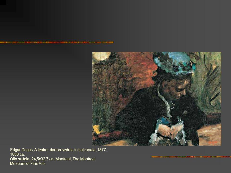 Edgar Degas, A teatro: donna seduta in balconata ,1877-1880 ca