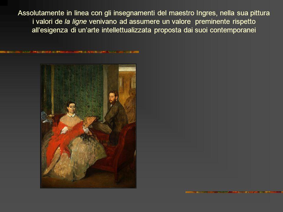 Assolutamente in linea con gli insegnamenti del maestro Ingres, nella sua pittura i valori de la ligne venivano ad assumere un valore preminente rispetto all'esigenza di un'arte intellettualizzata proposta dai suoi contemporanei