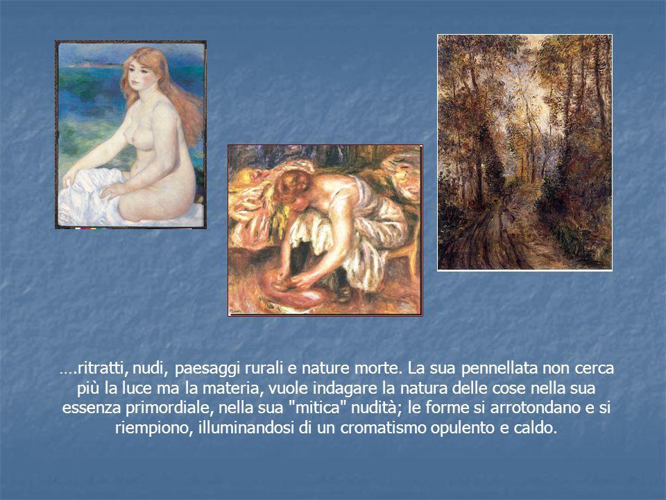 …. ritratti, nudi, paesaggi rurali e nature morte