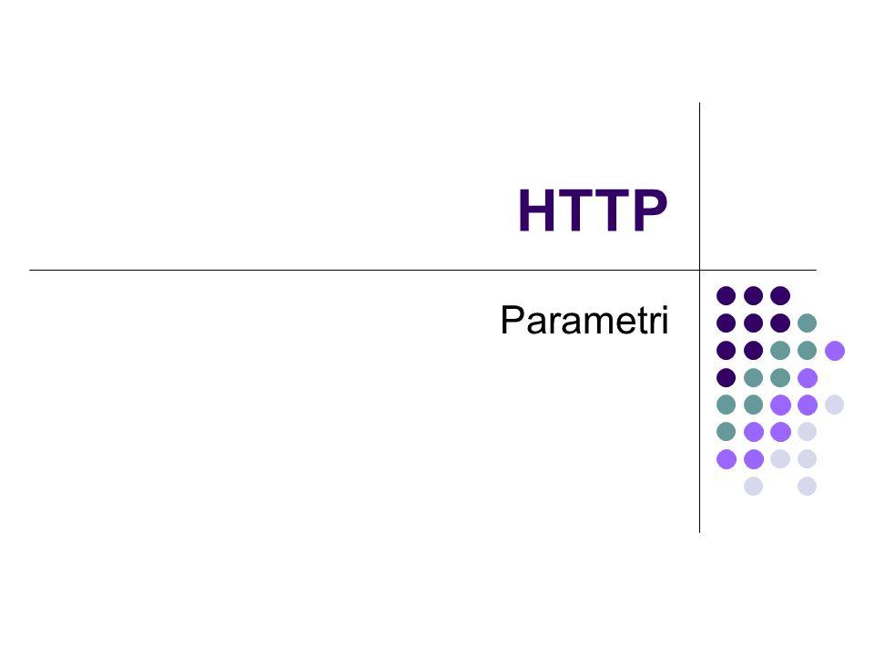 HTTP Parametri