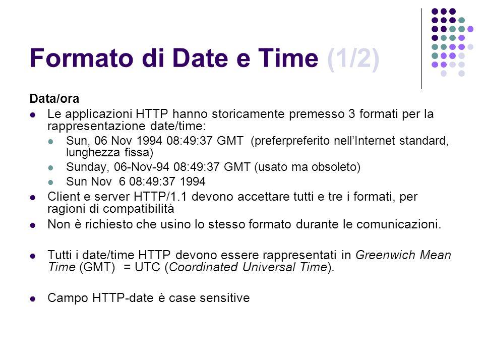 Formato di Date e Time (1/2)