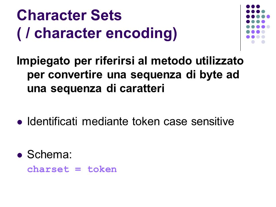 Character Sets ( / character encoding)