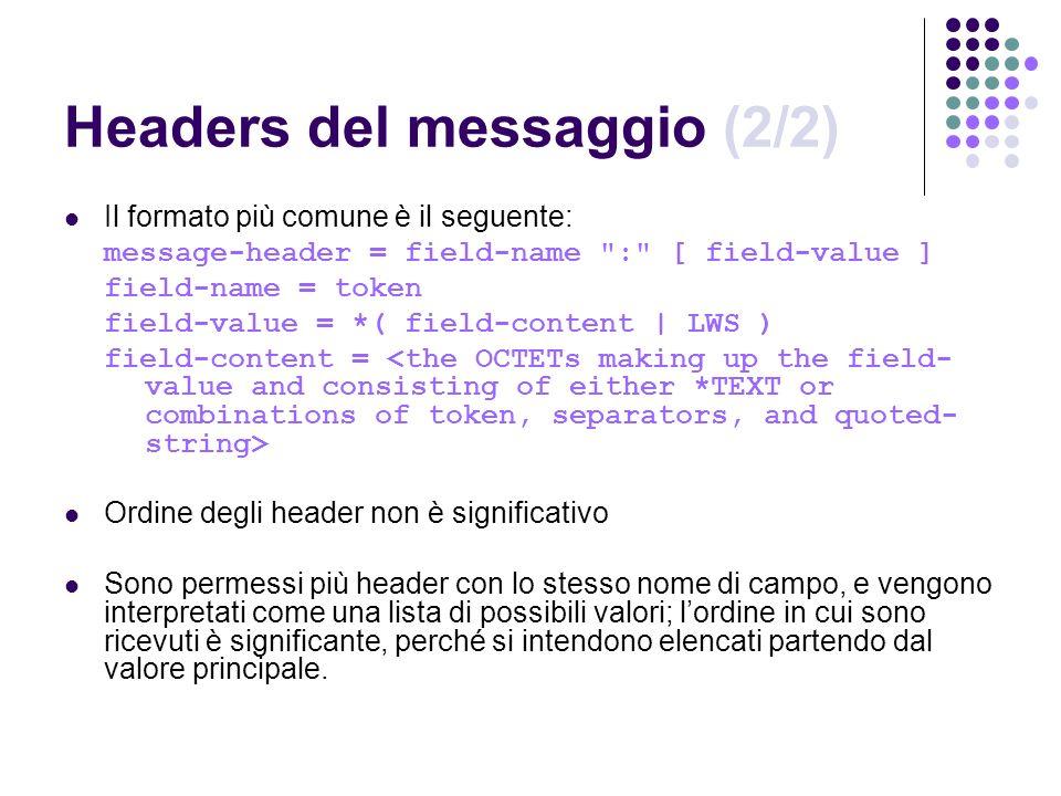 Headers del messaggio (2/2)