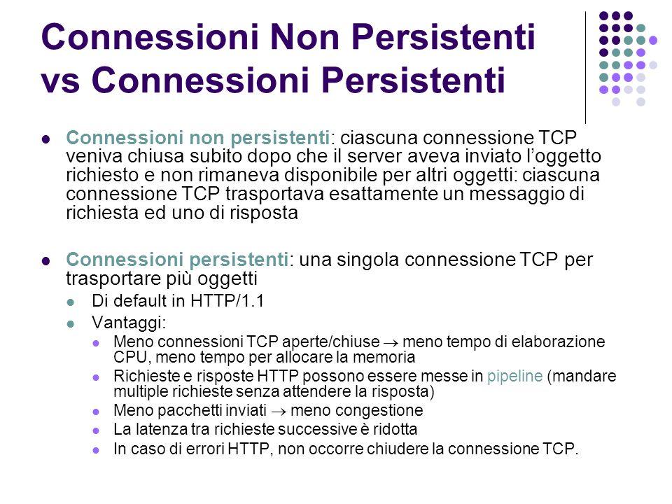 Connessioni Non Persistenti vs Connessioni Persistenti