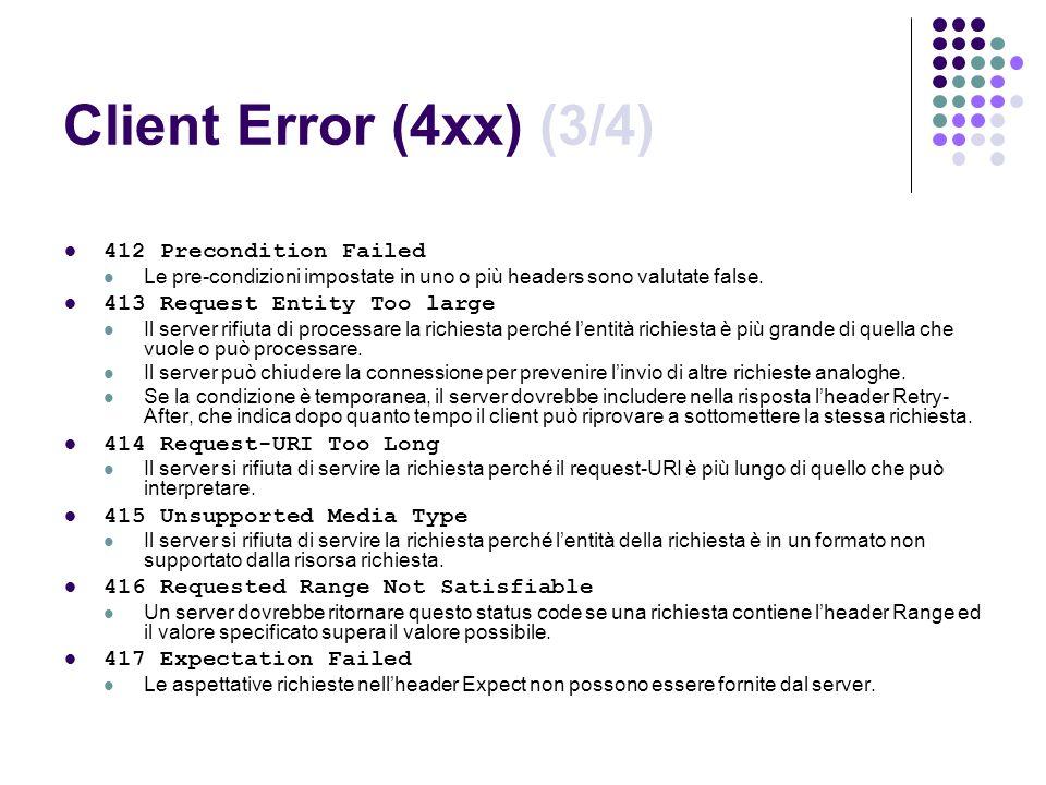 Client Error (4xx) (3/4) 412 Precondition Failed