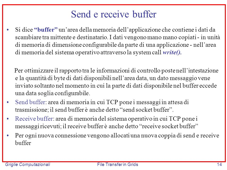 Send e receive buffer