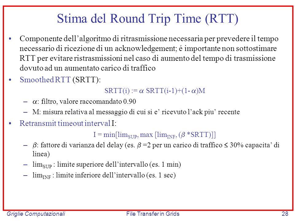 Stima del Round Trip Time (RTT)