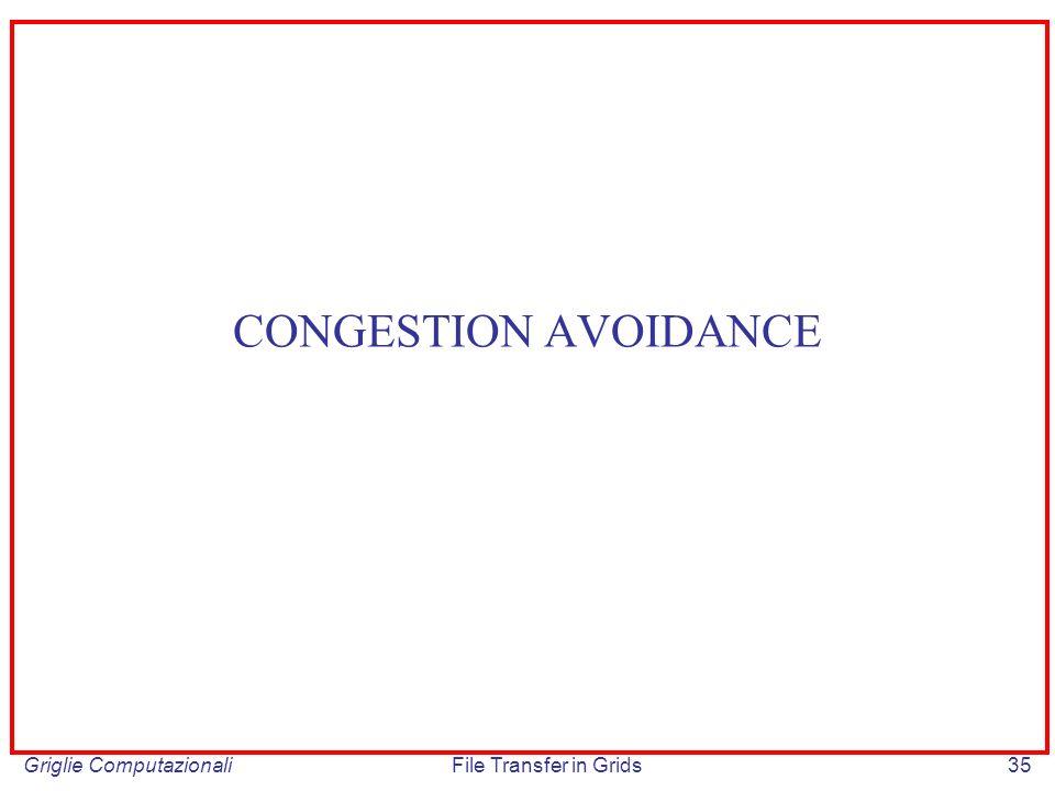 CONGESTION AVOIDANCE Griglie Computazionali File Transfer in Grids