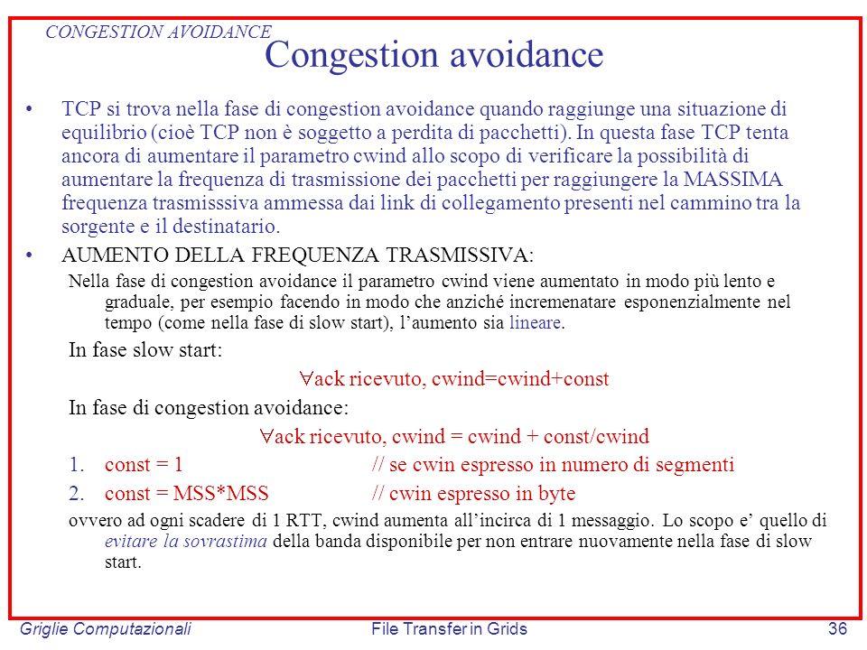 CONGESTION AVOIDANCE Congestion avoidance.