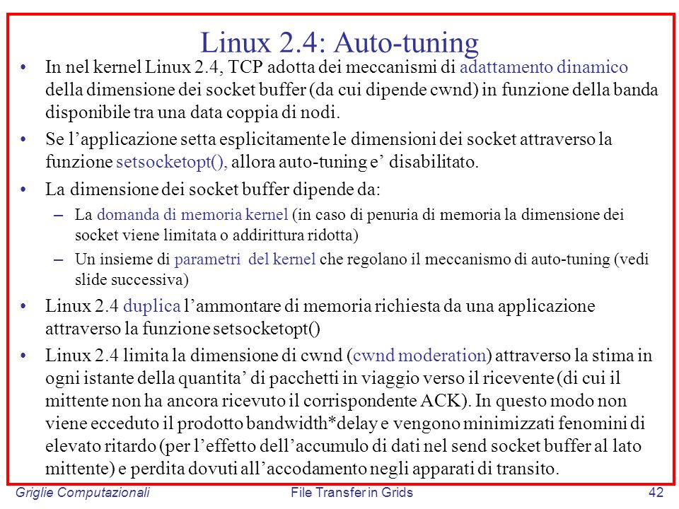 Linux 2.4: Auto-tuning