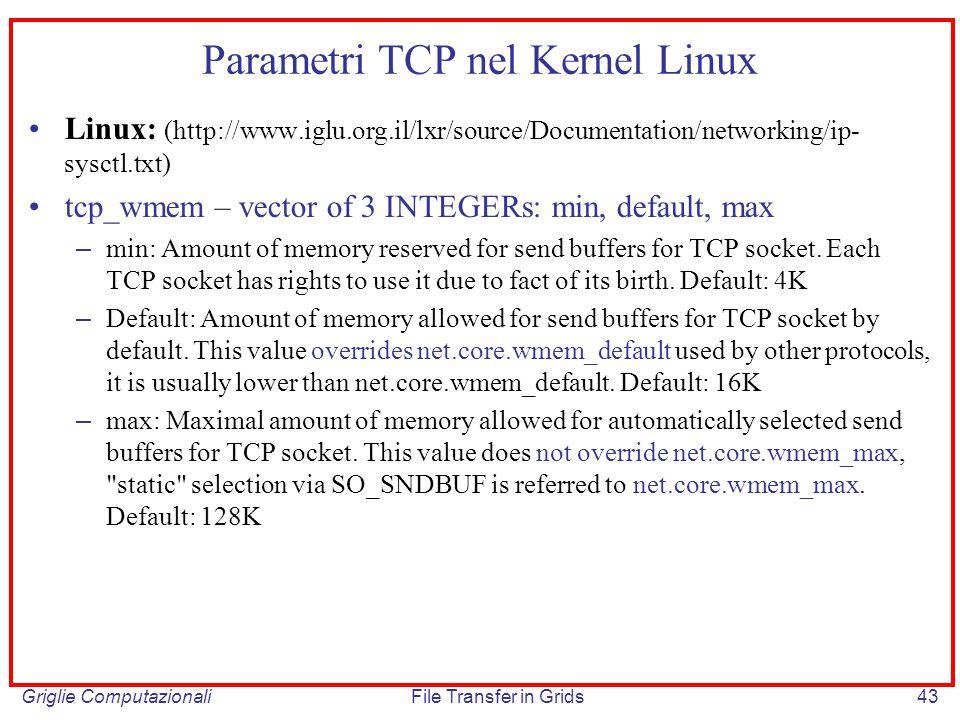 Parametri TCP nel Kernel Linux