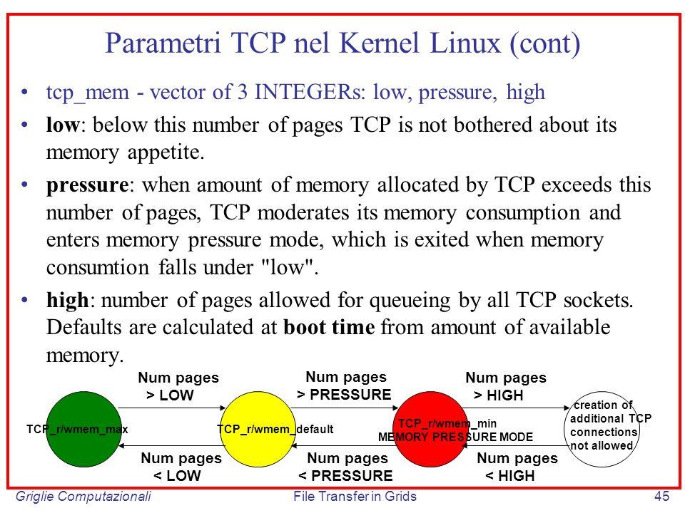 Parametri TCP nel Kernel Linux (cont)