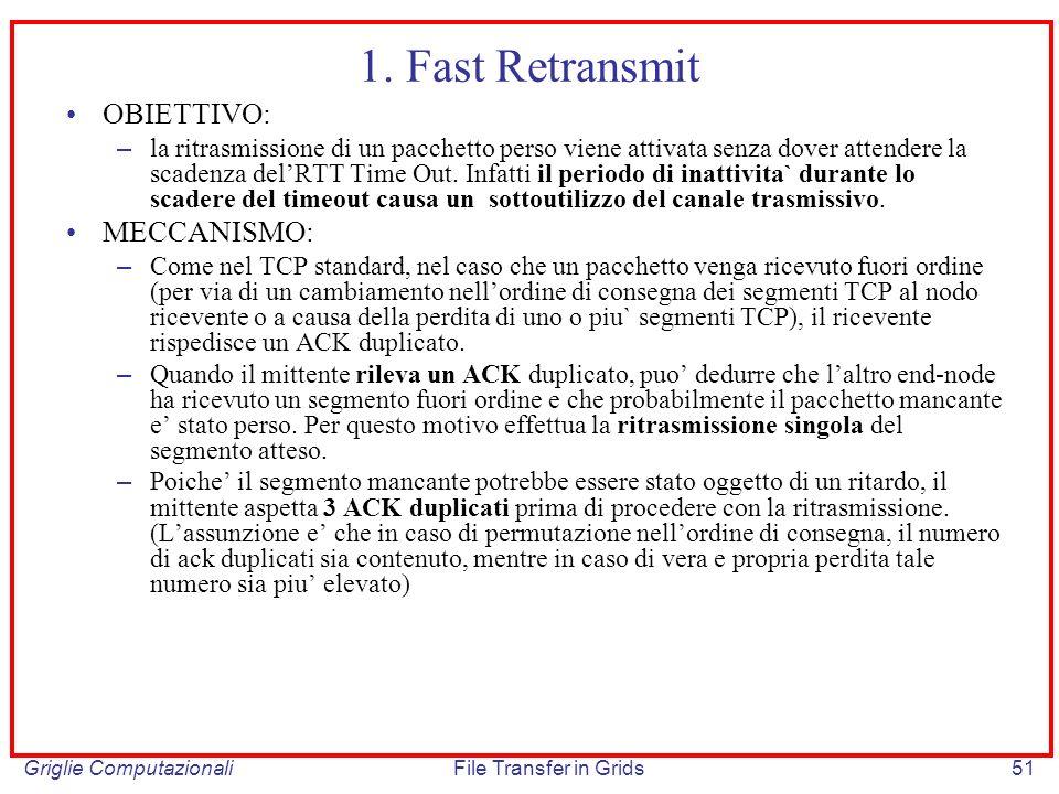 1. Fast Retransmit OBIETTIVO: MECCANISMO: