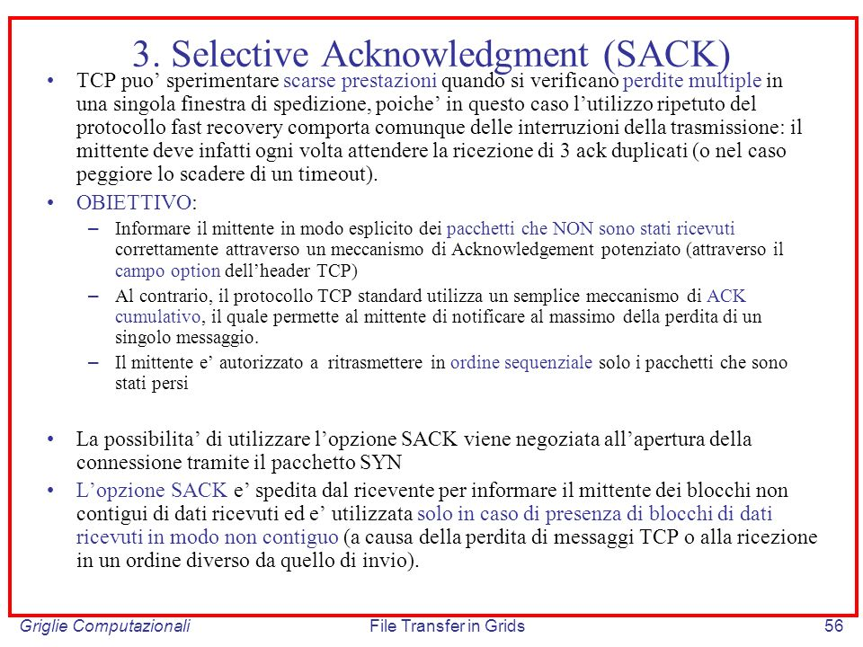 3. Selective Acknowledgment (SACK)