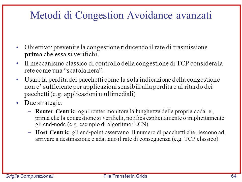 Metodi di Congestion Avoidance avanzati