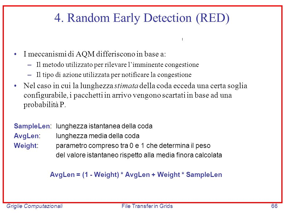 4. Random Early Detection (RED)