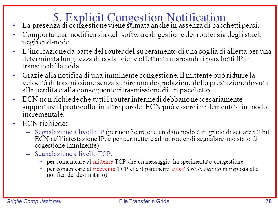 5. Explicit Congestion Notification