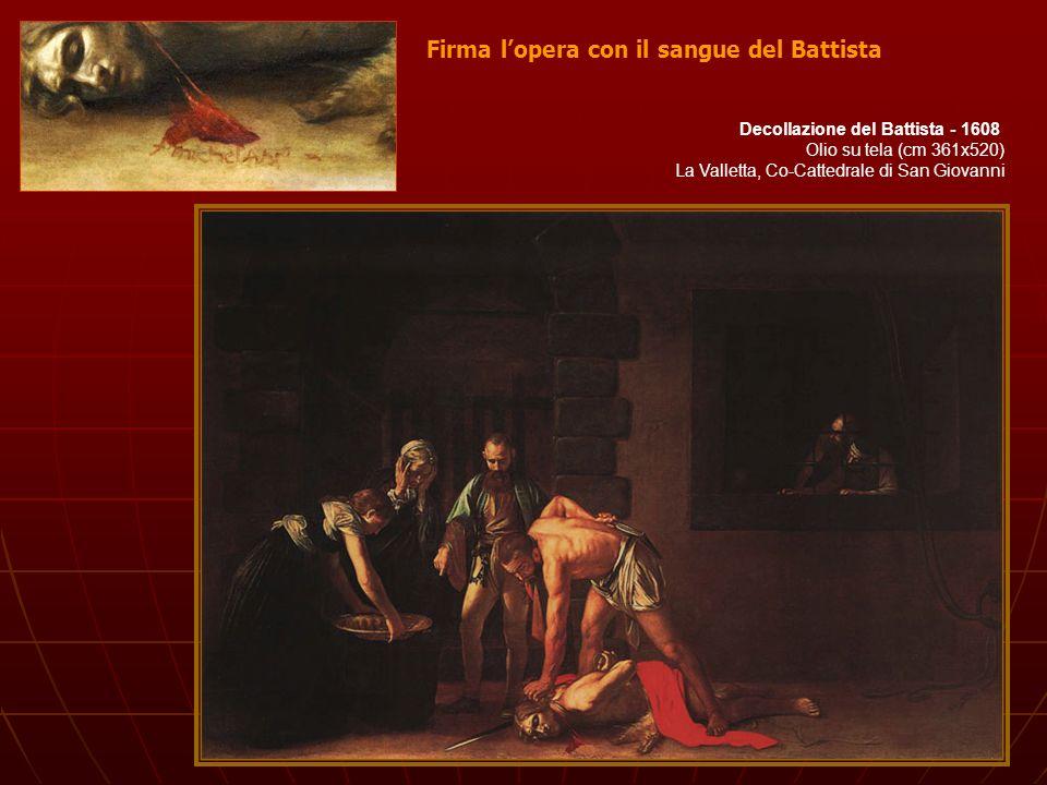 Firma l'opera con il sangue del Battista