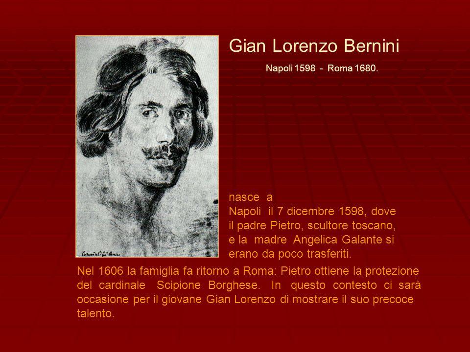 Gian Lorenzo Bernini nasce a Napoli il 7 dicembre 1598, dove