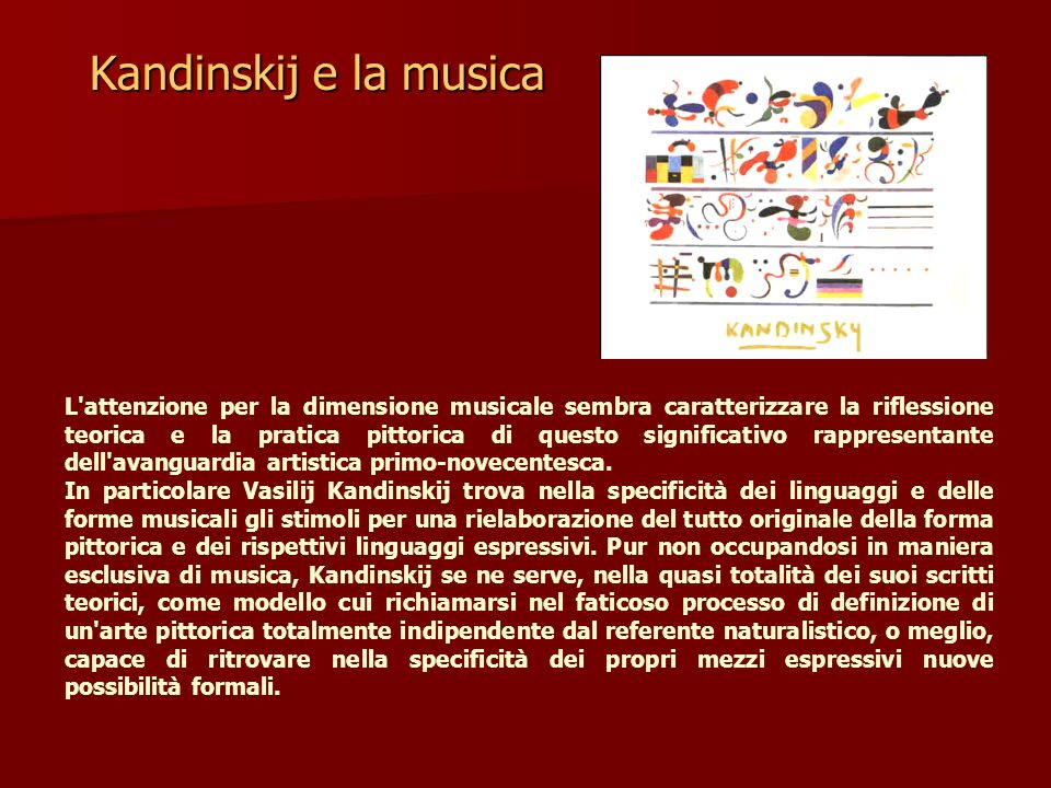 Kandinskij e la musica