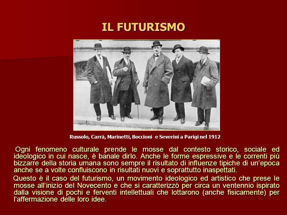 IL FUTURISMO Russolo, Carrà, Marinetti, Boccioni e Severini a Parigi nel 1912