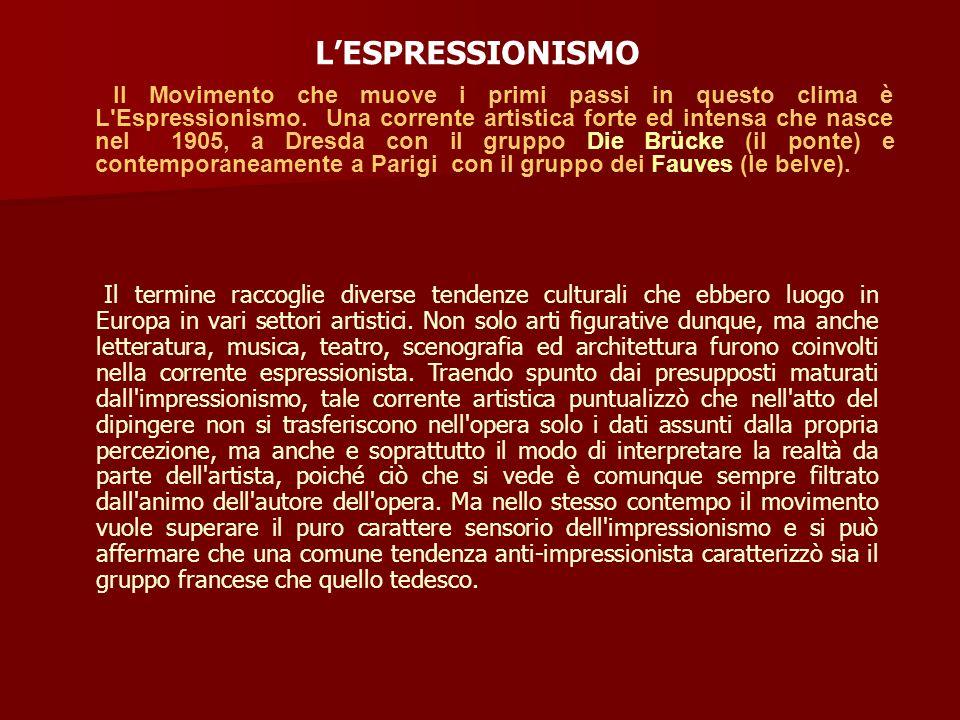 L'ESPRESSIONISMO