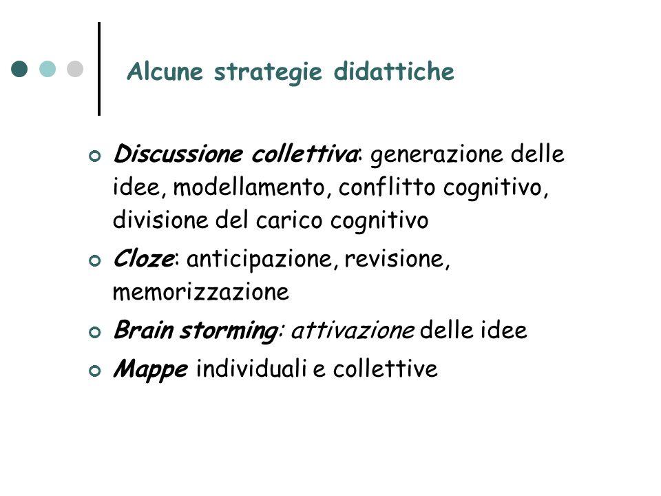Alcune strategie didattiche