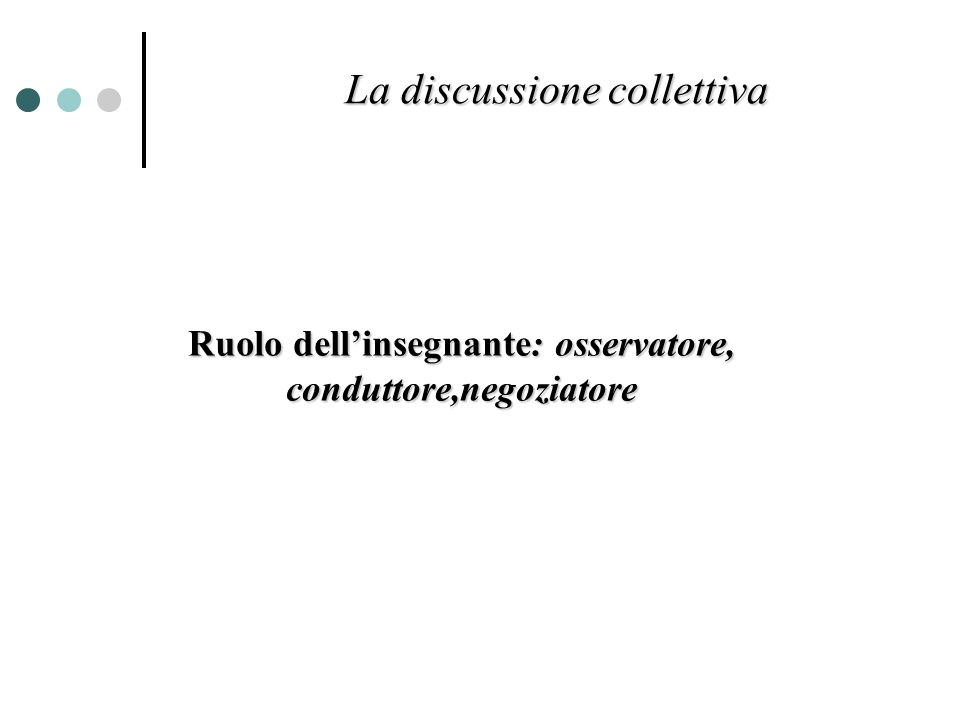 La discussione collettiva