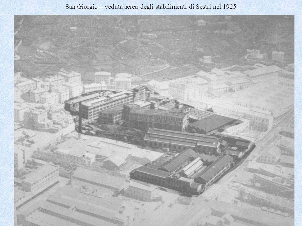 San Giorgio – veduta aerea degli stabilimenti di Sestri nel 1925