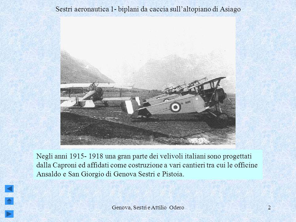 Sestri aeronautica 1- biplani da caccia sull'altopiano di Asiago