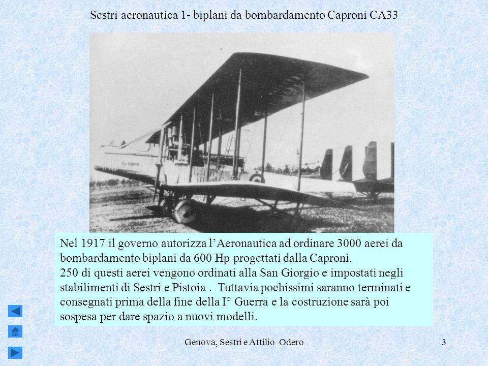 Sestri aeronautica 1- biplani da bombardamento Caproni CA33
