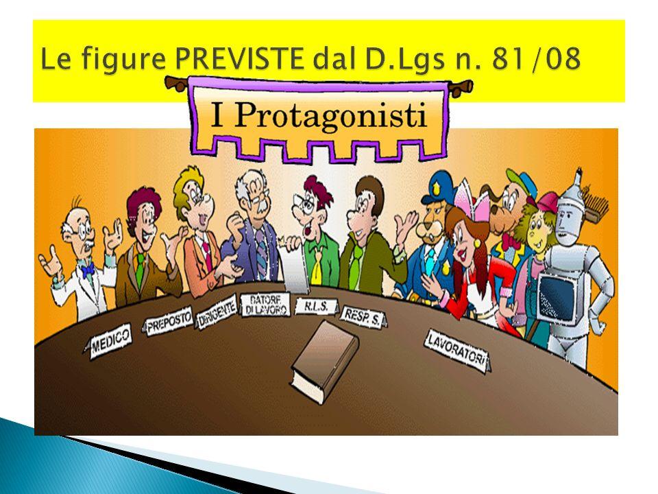 Le figure PREVISTE dal D.Lgs n. 81/08