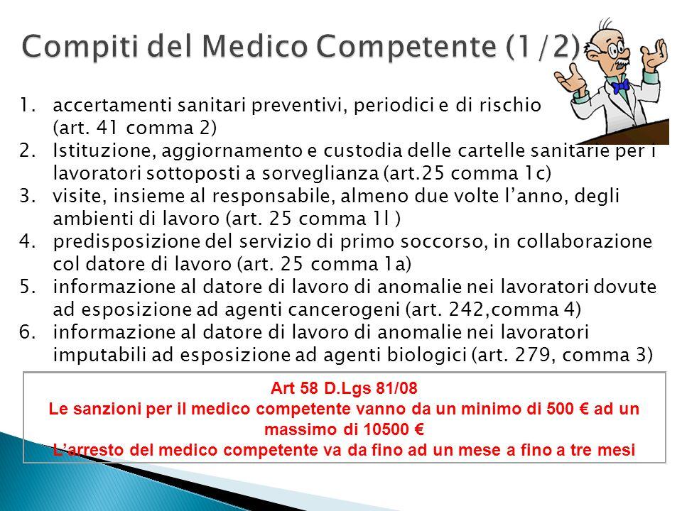 Compiti del Medico Competente (1/2)