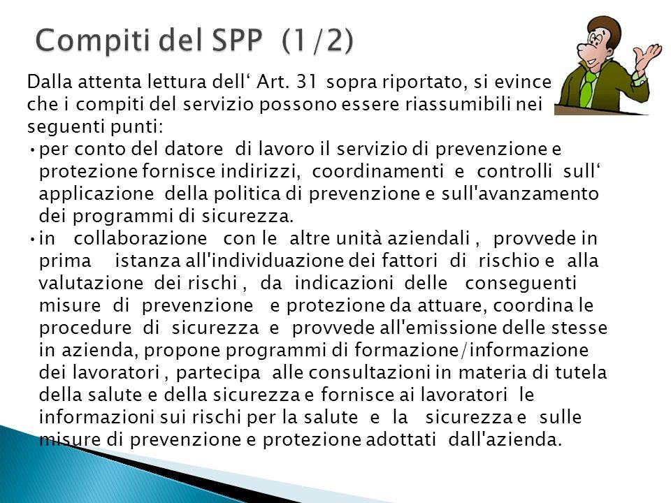 Compiti del SPP (1/2)