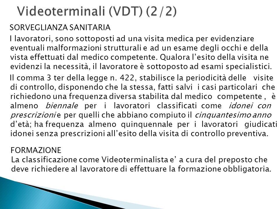 Videoterminali (VDT) (2/2)