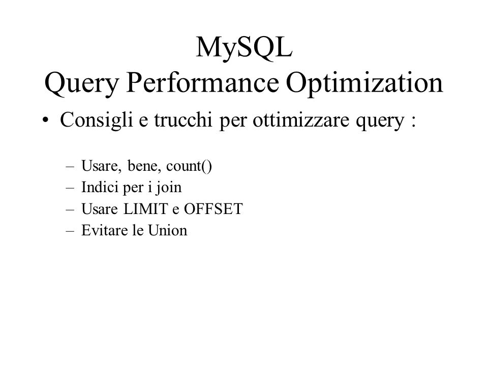 MySQL Query Performance Optimization