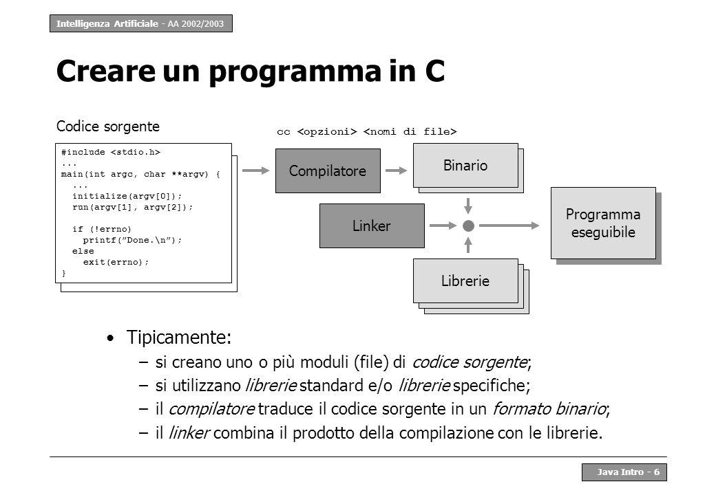 Creare un programma in C