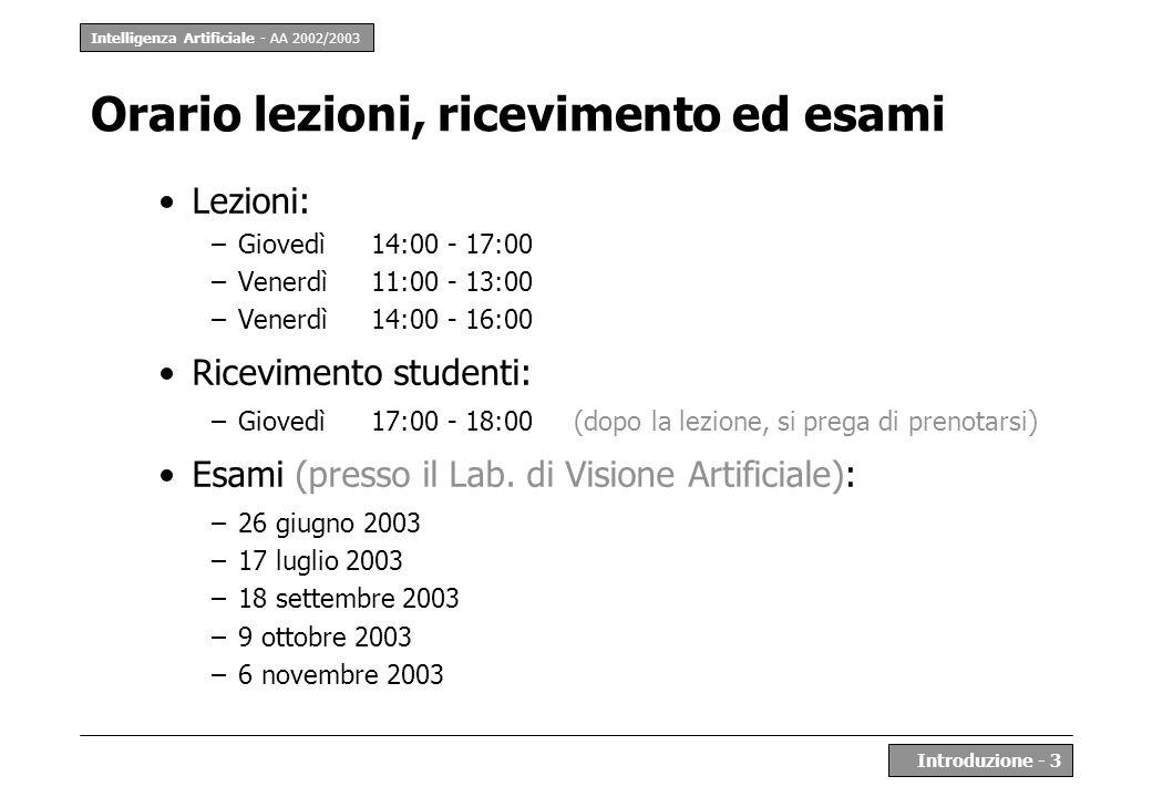 Orario lezioni, ricevimento ed esami