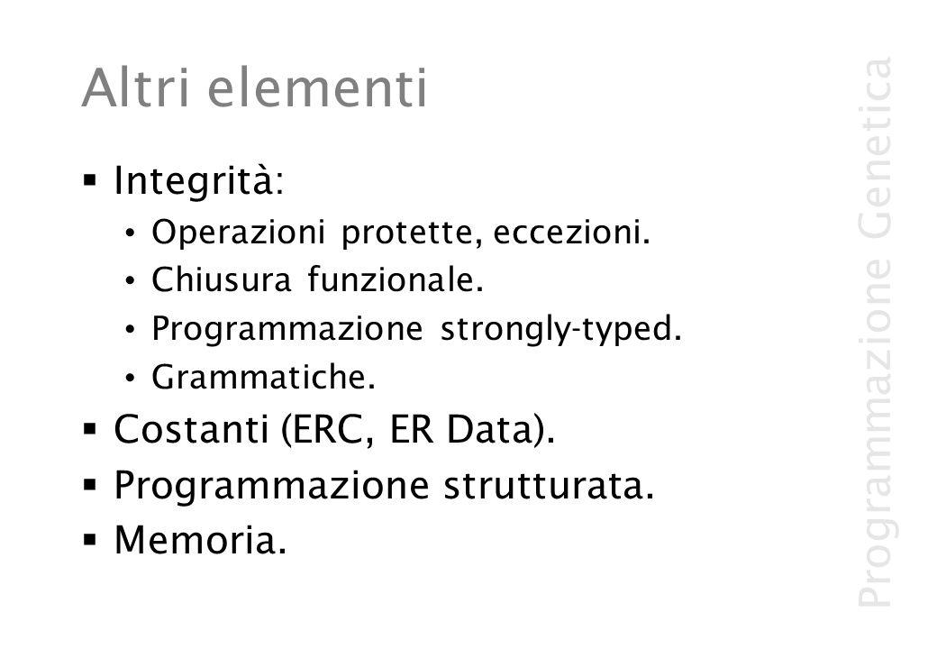 Altri elementi Integrità: Costanti (ERC, ER Data).